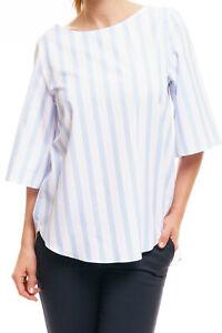 van-Laack-Celin-O-Damen-Bluse-Shirt-Tunika-blau-weiss-gestreift-casual-fashion