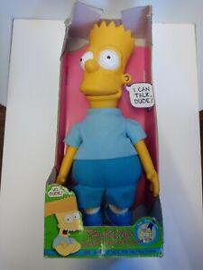 "Vintage 18"" Talking Bart Simpson Doll Simpsons Matt Groening Plush Doll 1990"