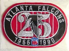 ATLANTA FALCONS ~ 25th ANNIVERSARY NFL PATCH STAT CARD Willabee & Ward WORN 1990