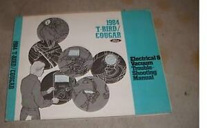 1984 ford thunderbird electrical wiring diagrams vacuum service shop rh ebay com 1984 Ford Thunderbird Wiring Diagram 1997 Ford Thunderbird Wiring Diagram