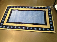 Pottery Barn Kids Navy Blue American Americana Star Border Room Area Rug 3x5