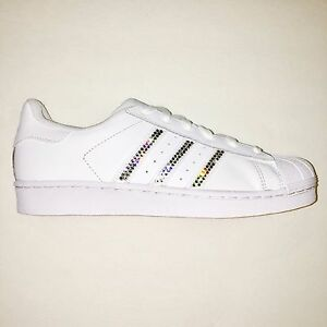 813e1fc2a Bling Women s Adidas Shoes w  Swarovski Crystals Originals Superstar ...