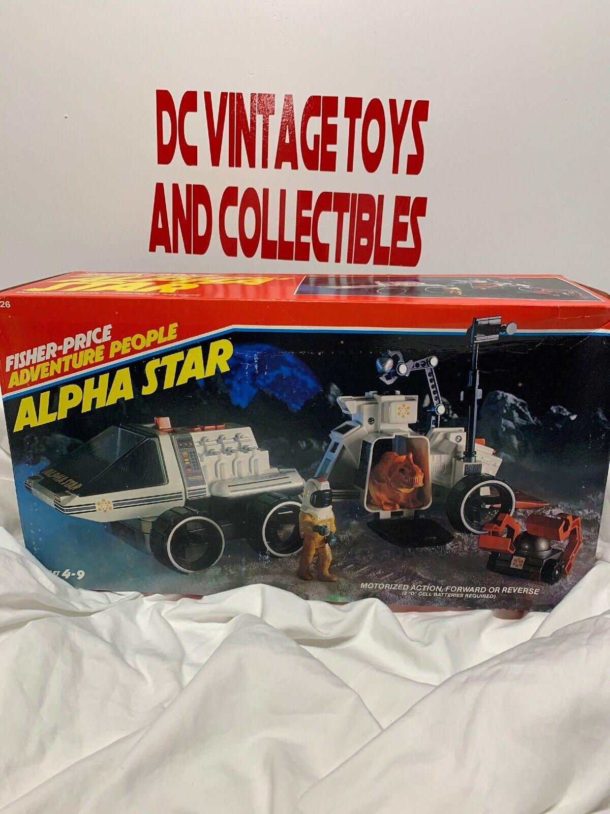 1983 Fisher Price gente estrella Alfa Conjunto de Juego Aventura sin usar y en caja sellada Sellado
