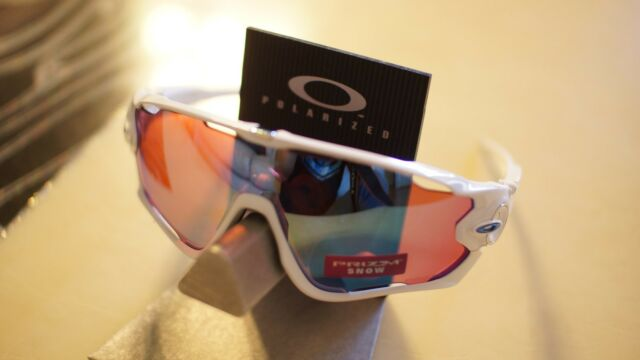 a9b9cd4d540  new  Oakley Jawbreaker SNOW White Prizm Sapphire Snow Sunglasses  oo9290-2131