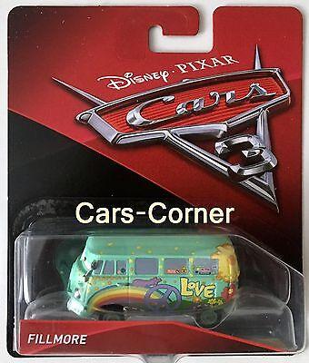 DISNEY PIXAR CARS FILLMORE VW BUS MODELLAUTO NEU+OVP
