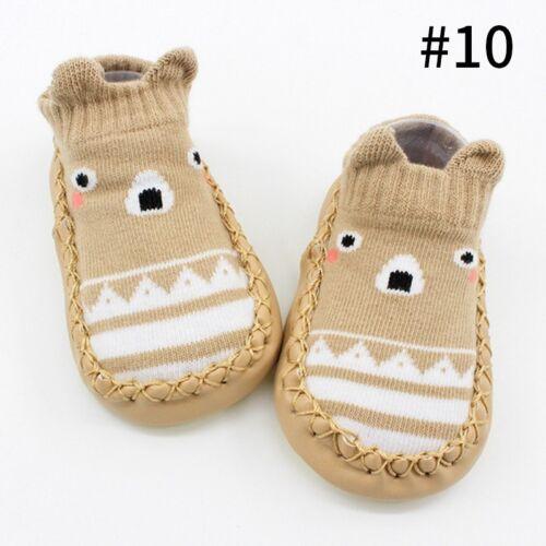 Cute Cartoon Printed Home Floor Socks Baby Toddler Kids Antislip Shoes Socks New