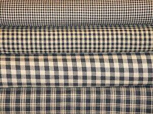 Black-And-Tan-Check-Plaid-Farmhouse-Rustic-Cabin-Country-Cotton-Homespun-Fabric