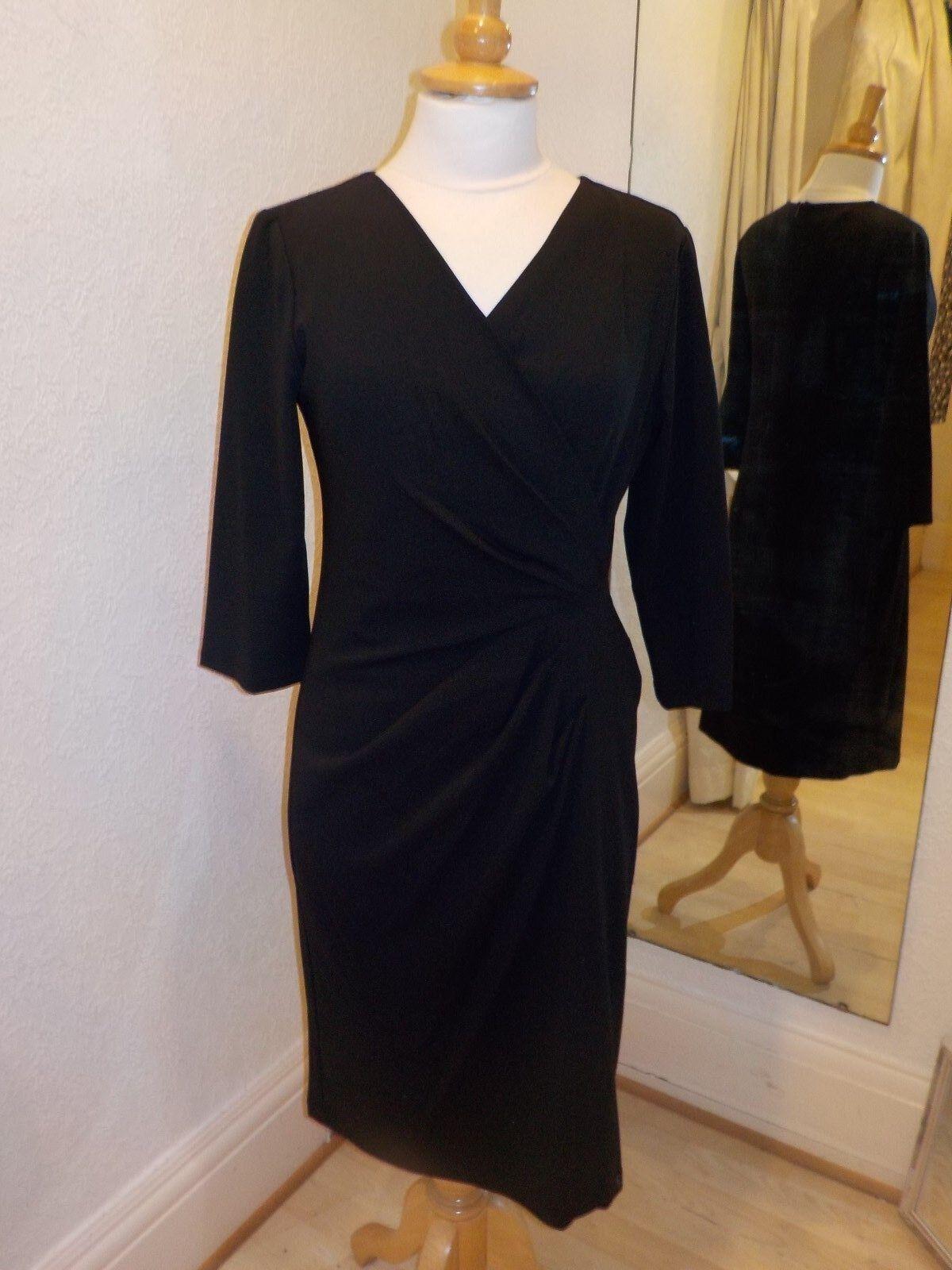 PomodGold schwarz Gather Crotver Dress 31871