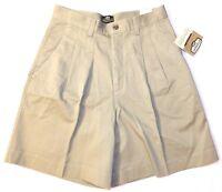 Lee Casuals Double Pleat Khaki Cotton Dress Shorts Choose Size 8, 10