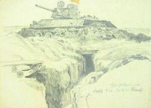Orel-Russland-Winter-1942-43-Bunkerkampf-mit-Panzer-T-43