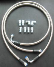 An6 Transmission Cooler Hose Fitting 50 Braided Flexible Ss Lines Gm Chevy Ford