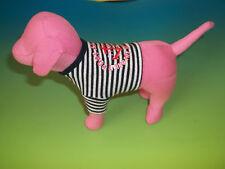 Victoria Secret Dog Plush Pink wearing Port Au Pink Living The Good Life Vest