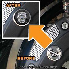 Brembo Front Brake Caliper Insert Set For Harley - POLICE BADGE BLUE LINE - 077