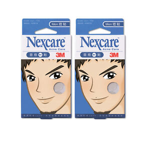 NEXCARE-3M-Acne-Dressing-Pimple-Treatment-Patch-for-MEN-2-Packs-30-Patches-NEW