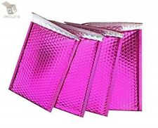 0 Glamour Metallic Pink Poly Bubble Mailers Envelopes 6 X 10 Extra Wide