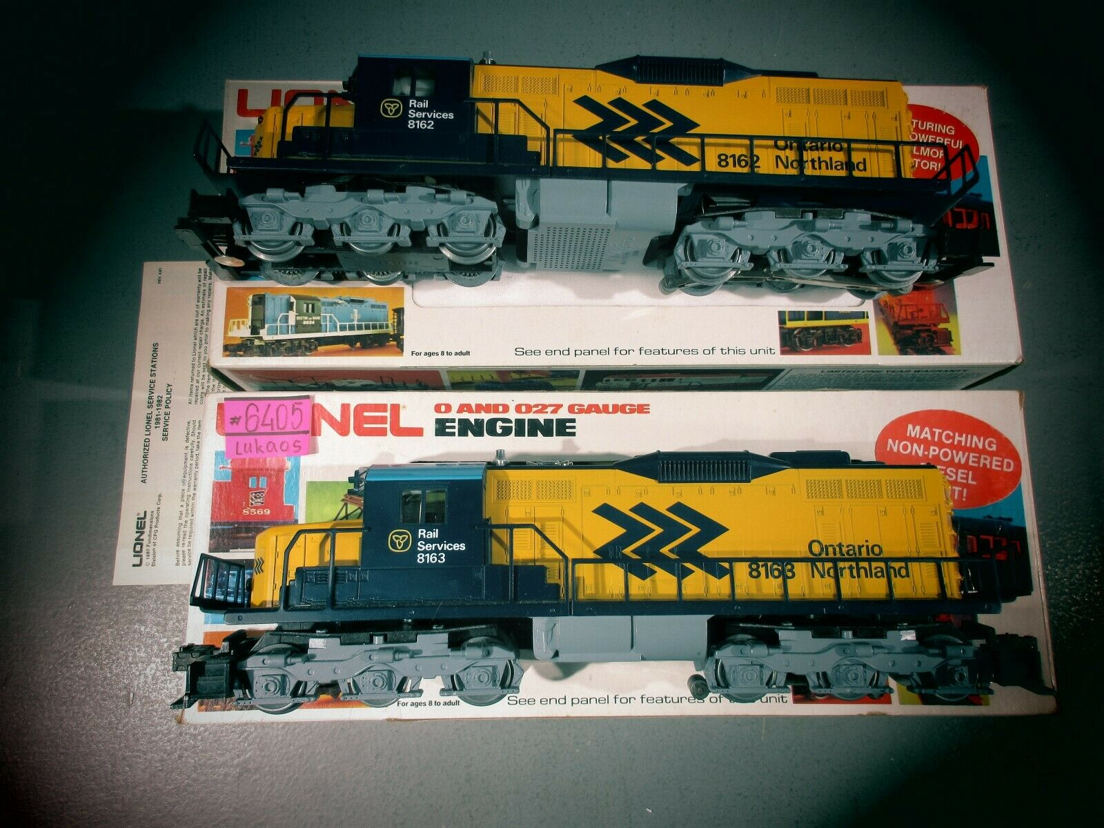 Lionel OO27 Ontario Northle SD18 Motore Diesel Set 68162 68163 ginecologa. C7