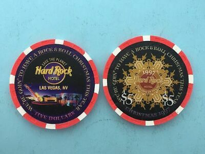 Hard Rock 2006  Christmas $5 Casino Chip Mint// brand new