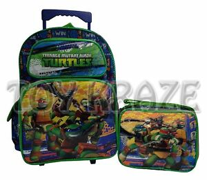 TEENAGE MUTANT NINJA TURTLES ROLLING BACKPACK & LUNCH BOX SET ...