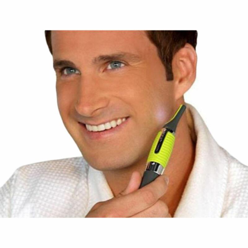 Hot Men Nose Ear Face Neck Eyebrow Hair Mustache Beard Trimmer Shaver Clipper PE