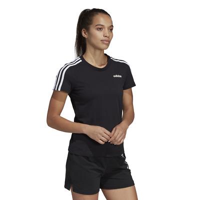 Adidas Women Tshirt Sport Style Tee Essentials 3 Stripes Training Running DP2362 | eBay