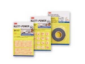 3M Klett-Power Strips Pads Mounting Tape Multi Purpose Hook & Loop Self-Adhesive