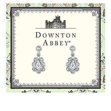 Downton Abbey Silver-Tone Crystal Scalloped Drop Earrings 17685