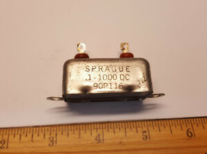 SPRAGUE-Capacitor-1uF-1000v-90P116-PIO-Bathtub-type-Lot-of-1