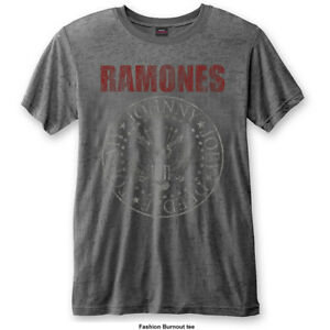 The-Ramones-Presidential-Seal-Burnout-Official-Merchandise-T-Shirt-M-L-XL-Neu