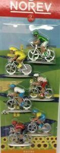 Lot-de-6-cyclistes-miniatures-Norev-Ref-318991-Tour-de-France-Ech-1-43