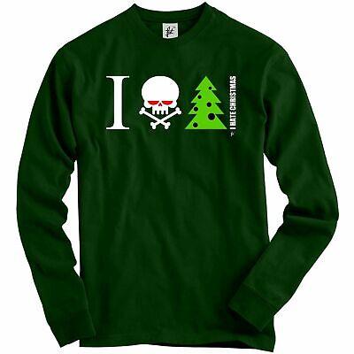 I Hate Christmas Skull /& Crossbones With Tree Adult Christmas Jumper Sweatshirt