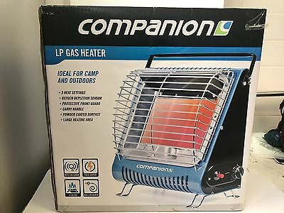 New Companion LP gas heater piezo for caravanning & camping LPG 3 tile