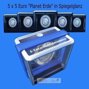 5 Euro Münze Blauer Planet Erde Pp Spiegelglanz 2016 Komplettsatz