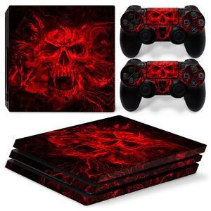 Vampire Skull 2 Sony Ps4 Playstation 4 Pro Skin Sticker Screen Protector Set Video Game Accessories