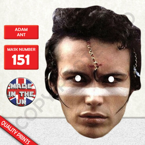 Adam Ant 1980's Celebrity Singer Cardboard Mask - Made In The UK New