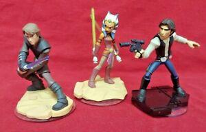 DISNEY-INFINITY-Star-Wars-Han-Luke-Ahsoka-1-0-2-0-3-0-Figure-Lot-Wii-PS3-360