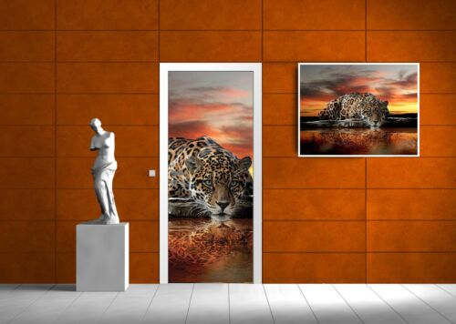 Tür Türfototapeten Tapete Vlies F420291/_VET Door Mural Photo Sticker Jaguar und