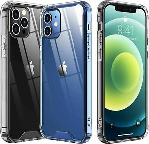 For Apple iPhone 11 12 Pro MAX 7 8 Plus X XR XS SE 12 Mini Shockproof Clear Case