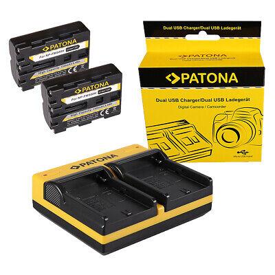 2x Batteria Patona Premium caricabatteria rapido DUAL LCD per Sony NP-FZ100