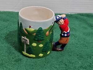 Golf-Coffee-Mug-Cup-Player-On-Course-Ceramic