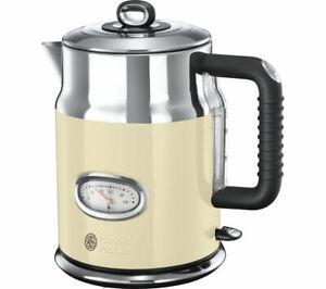 RUSSELL-HOBBS-Retro-21672-Jug-Kettle-Cream-3000W-1-7-L-Stainless-Steel