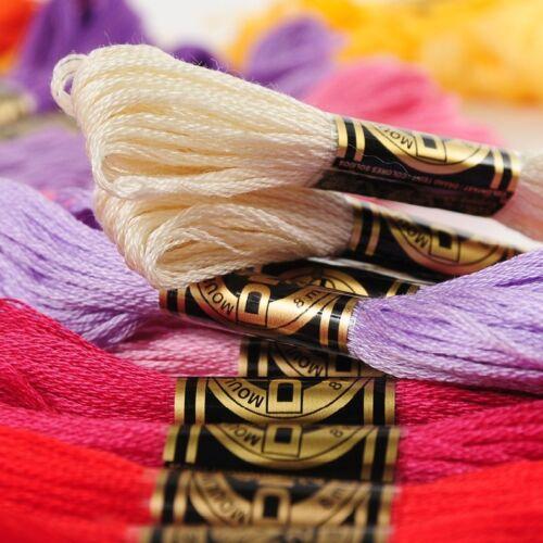 516 Colores Disponibles ART117 80 madejas de seis hebras de hilo de bordar