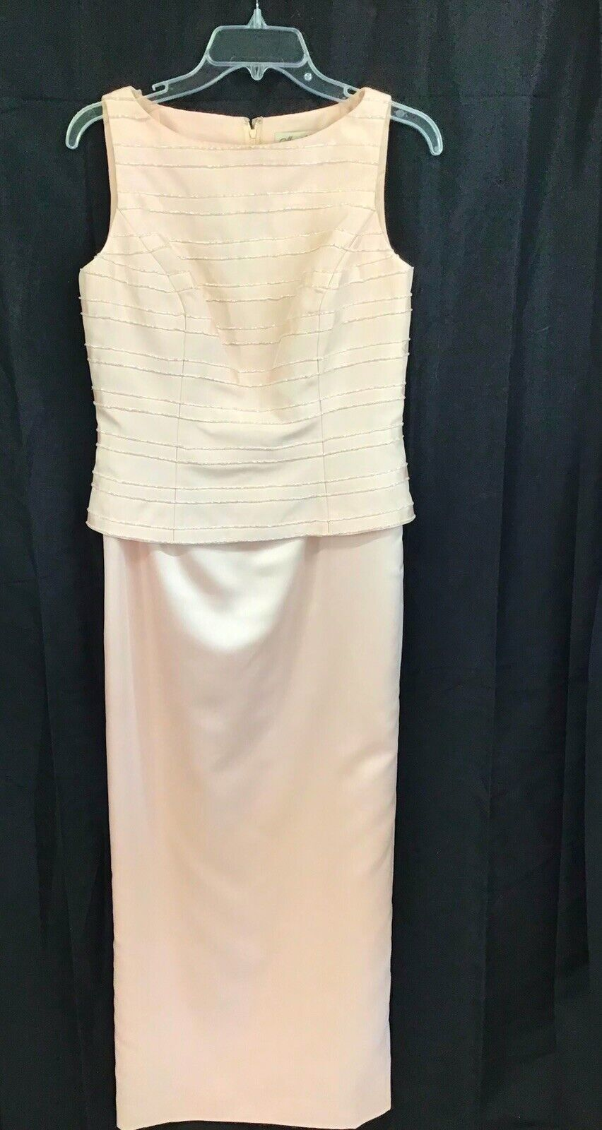 VINTAGE COUTURE MARIE ST. CLAIRE PINK BEADED TRIM… - image 7