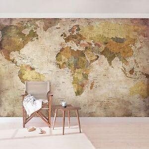 Das Bild Wird Geladen Vlies Tapete Foto Tapeten Weltkarte Foto Wand Bilder
