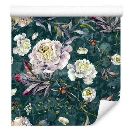 VLIES TAPETE Rolle Wandtapete Blumen Pfingstrosen Pflanzen Vintage XXL 16102