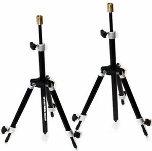 2-x-New-Carp-Coarse-Fishing-Mini-Tripod-Rod-Rests-Fully-Adjustable-Black