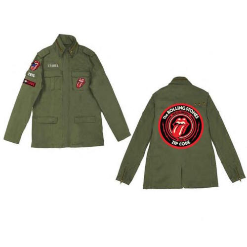 Zip Code The Rolling Stones Official Mens Army Utilitarian Jacket