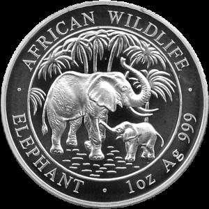 1-OZ-Silber-African-Wildlife-Elefant-Silver-Somalia-2007