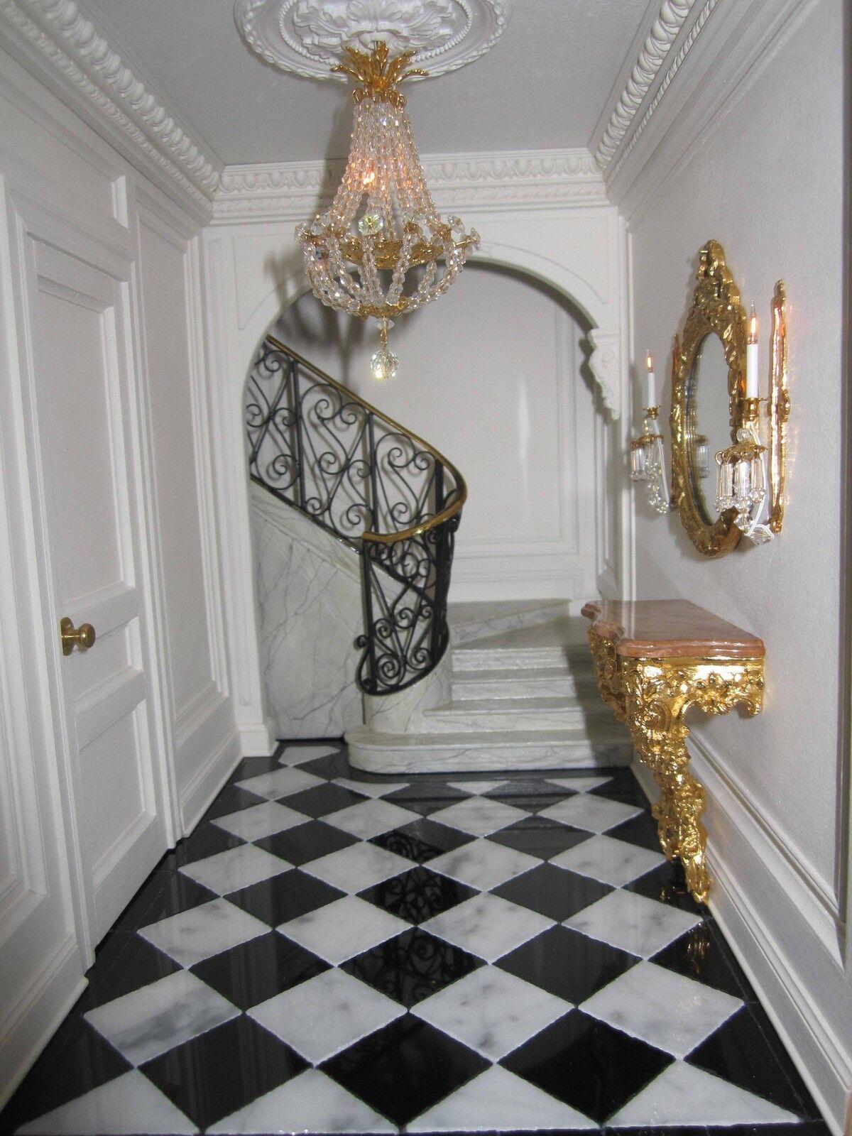 connotación de lujo discreta Real En En En Miniatura 25 blancoo y Negro Pulido mármol baldosas de Casa de Muñecas  Ahorre 35% - 70% de descuento