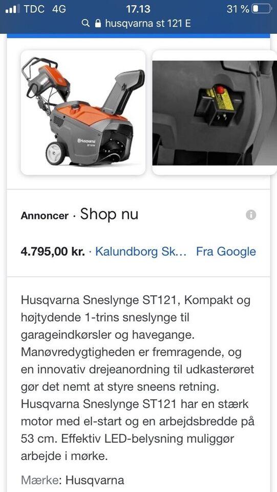 Sneslynge., Husqvarna