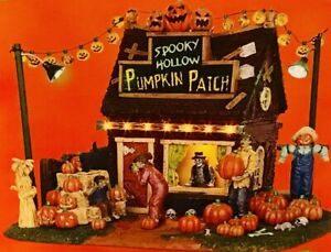 Lemax-Spooky-Town-SPOOKY-HOLLOW-PUMKIN-PATCH-54902-BNIB-Lighted-Building
